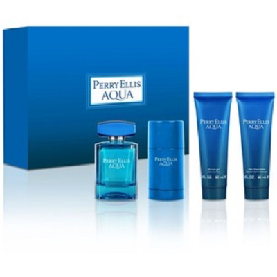 (Giftset) Perry Ellis Aqua For Men