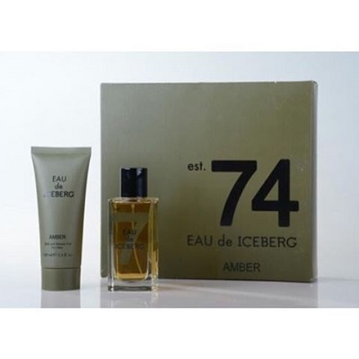(Giftset) Iceberg Eau De Iceberg 74 Amber For Men