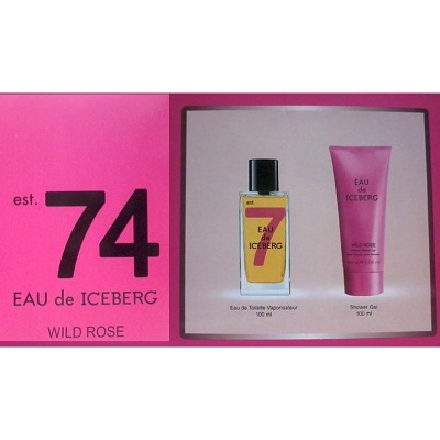 (Giftset) Iceberg Eau De Iceberg 74 Wild Rose For Women
